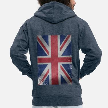 Union Jack England brexit flag Britain Union Jack UK Lond - Men's Premium Hooded Jacket