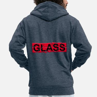 Glass glass - glass - Men's Premium Zip Hoodie