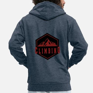 Mountain Climbing Climbing in the mountain - climbing in the mountains - Men's Premium Zip Hoodie