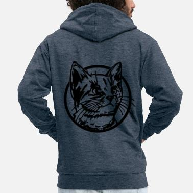 Subtle Cat kitten cat lover cat gift idea - Men's Premium Zip Hoodie