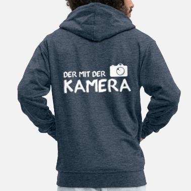 Photography T-shirt photographer - I love my camera - Men's Premium Hooded Jacket