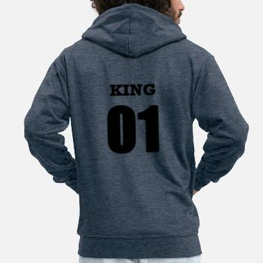 King Queen T-shirts partenaires King et Queen - King Shirt - Veste à capuche Premium Homme