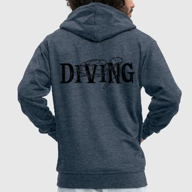 You love diving in the sea. Diving with oxygen i - Men's Premium Hooded Jacket