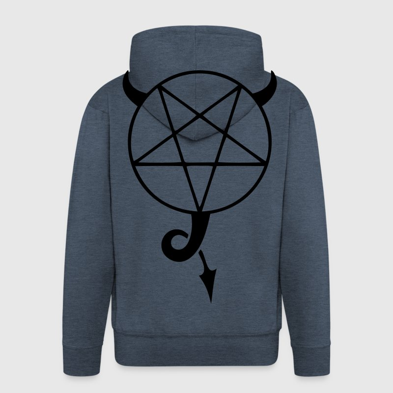 satanic pentagram - Men's Premium Hooded Jacket