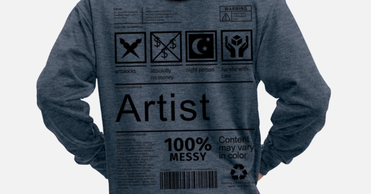 Artist Artist Artist Creative Label Premium hettejakke for