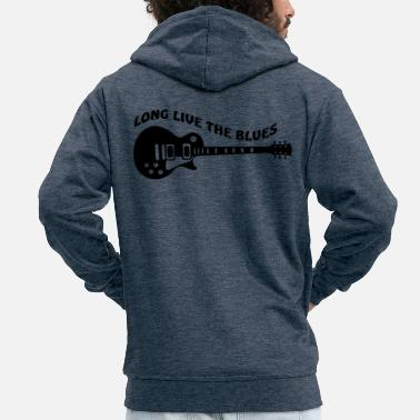 Jazz Long Live The Blues - Men's Premium Hooded Jacket