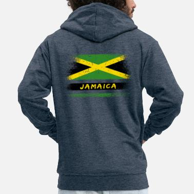 Jamaica Jamaica vintage flag / Kingston gift Jamaica - Men's Premium Zip Hoodie