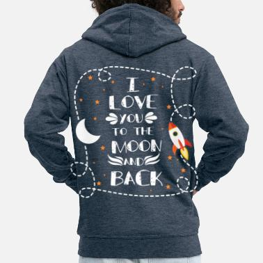 I Love You I love you - I love you - Men's Premium Zip Hoodie