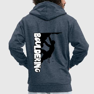 Wall Prints Sports Bouldering Print - Men's Premium Hooded Jacket