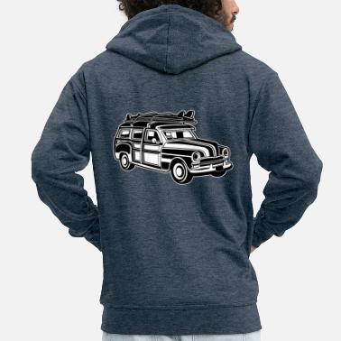 Chevy Chevy Cadilac Woodie / Vintage Kombi 01_sw - Men's Premium Hooded Jacket