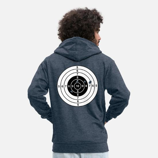 Joke Hoodies & Sweatshirts - target - Men's Premium Zip Hoodie heather denim