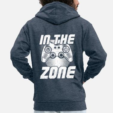 Fan In The Zone Gamer Fan Gift blanco - Chaqueta con capucha premium hombre