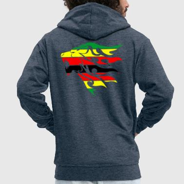 Zimbabwe zimbabwe flag lion - Men's Premium Hooded Jacket