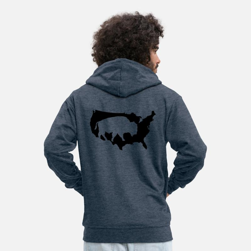 Bison Indian Buffalo Prairie Cowboys Usa Usa Men S Premium Zip