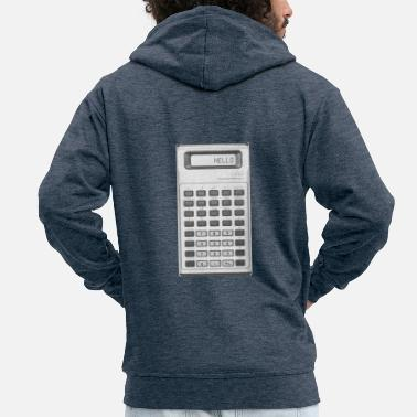 Calculator Calculator - Men's Premium Zip Hoodie