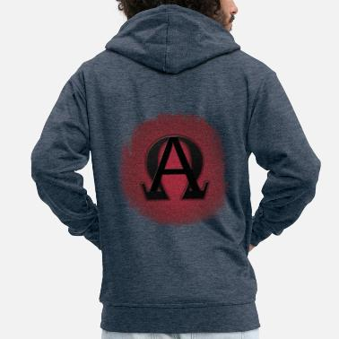 ALPHA AND OMEGA - Men's Premium Zip Hoodie