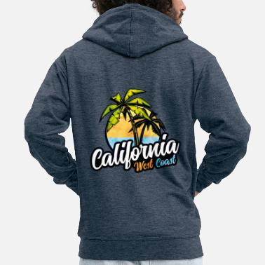 Gangster Costa occidentale della California USA - Felpa con zip Premium da uomo