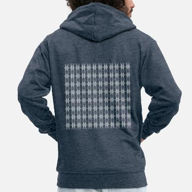 Pattern Abstract pattern - Men's Premium Zip Hoodie