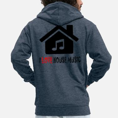 House House Music House-feesthemd - Mannenjack Premium met capuchon