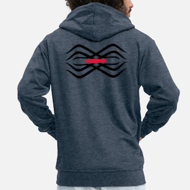 Tatoo tribal Spinnen-Tatoo / tribal spider tatoo (2c) - Men's Premium Zip Hoodie