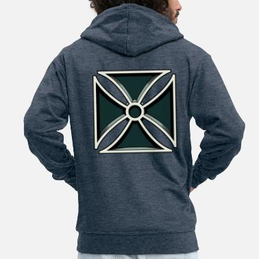 Iron Cross Iron Cross - Iron Cross - Men's Premium Zip Hoodie