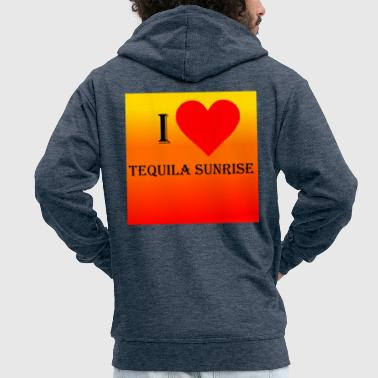 I Love Tequila Sunrise - Men's Premium Hooded Jacket