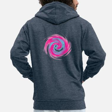 Swirl swirl - Men's Premium Hooded Jacket