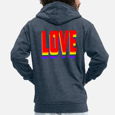 Lovely Love - Men's Premium Zip Hoodie