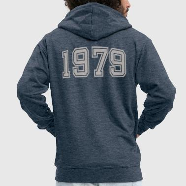 College Style 1979 college style - Men's Premium Hooded Jacket