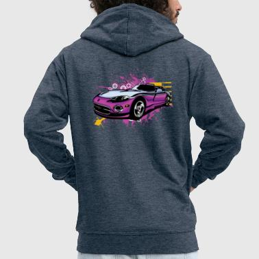 Amazing mucular cabriolet sportscar - Men's Premium Hooded Jacket