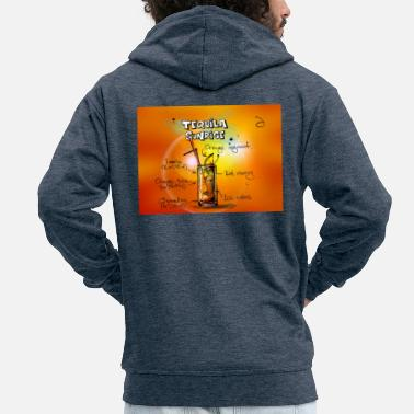 Tequila Sunrise tequila Sunrise - Men's Premium Hooded Jacket