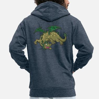 Spotted Dragons - Men's Premium Zip Hoodie