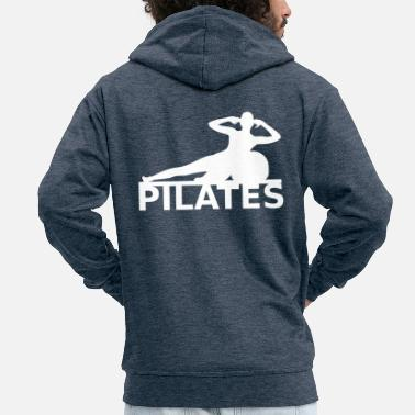 Pilates - Men's Premium Hooded Jacket
