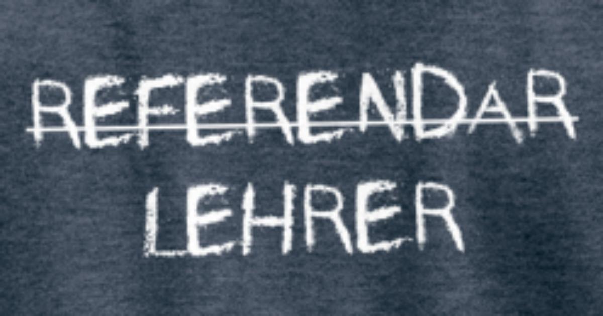 Referendar Lehrer Bestanden Kreideschrift Geschenk Manner Premium