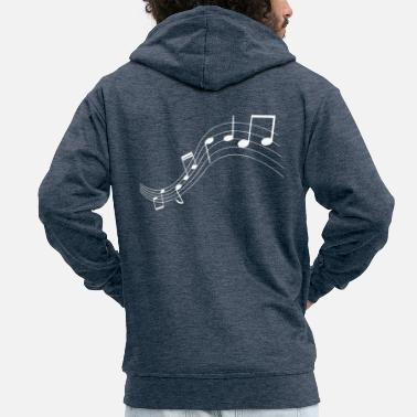 Music Note Music notes music notes - Men's Premium Zip Hoodie