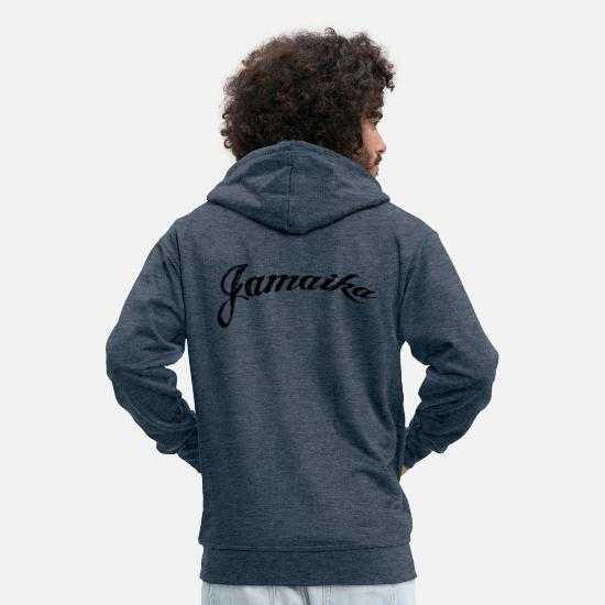 Jamaica Hoodies & Sweatshirts - Jamaica - Men's Premium Zip Hoodie heather denim