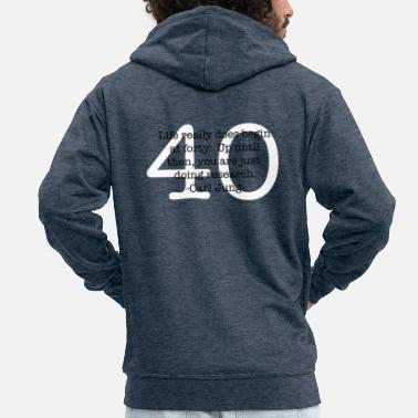 40 plus quote carl jung - Men's Premium Zip Hoodie