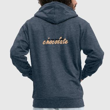 Grumpy The day starts after Chocolate - Men's Premium Hooded Jacket