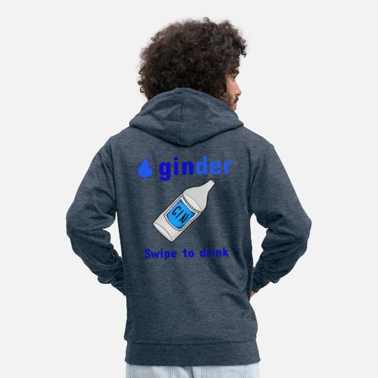 Birthday Hoodies & Sweatshirts - ginder - Men's Premium Zip Hoodie heather denim