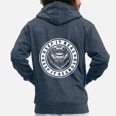 Heaven keep it real keep it bearded - Männer Premium Kapuzenjacke