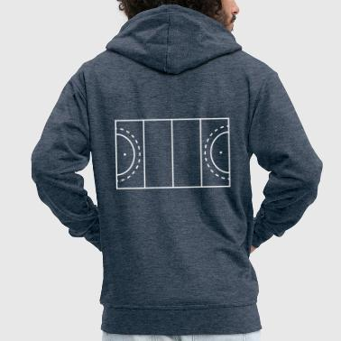 Field Hockey hockey field - Men's Premium Hooded Jacket