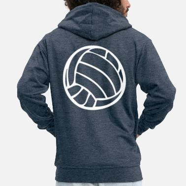 Volley Voleibol Waterpolo Volley Beachvolleyball - Chaqueta con capucha premium hombre