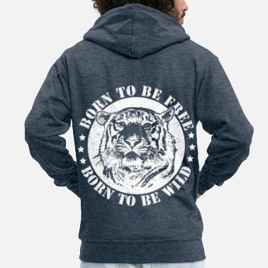 Date Of Birth Birth dates and to be wild! - Men's Premium Zip Hoodie