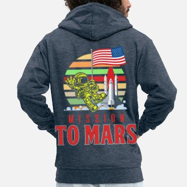Occupy Mission to Mars - Men's Premium Zip Hoodie