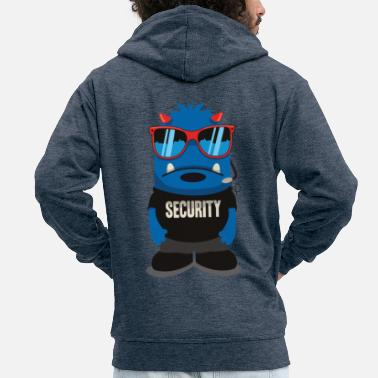 Security and security monsters with cool glasses - Men's Premium Zip Hoodie