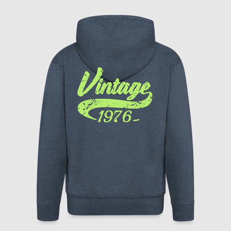 Vintage 1976 - Men's Premium Hooded Jacket