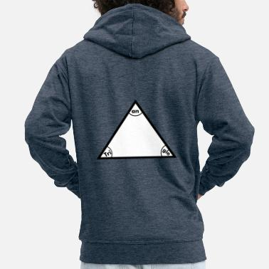 Triangle triangle - Men's Premium Zip Hoodie