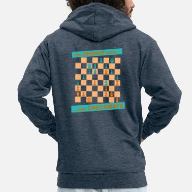 Canton The ORANGE move ... and CHECKMATE - Canton - Men's Premium Zip Hoodie