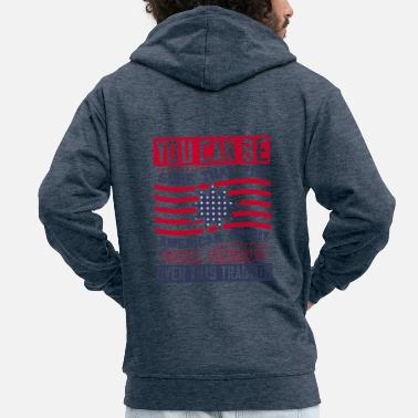 Police Patriot Day American Spirit wants prevail - Men's Premium Zip Hoodie