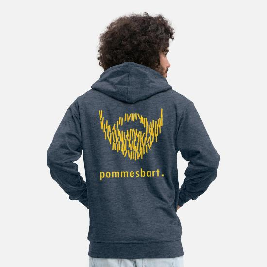 Gift Idea Hoodies & Sweatshirts - french beard. - Men's Premium Zip Hoodie heather denim